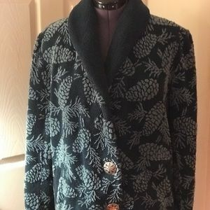 Heavy Sweater Fleece Coat